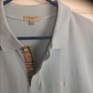 Burberry London light blue, short sleeve, polo XXL